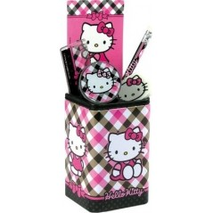 HELLO KITTY POT A CRAYONS + FOURNITURES SCOLAIRES